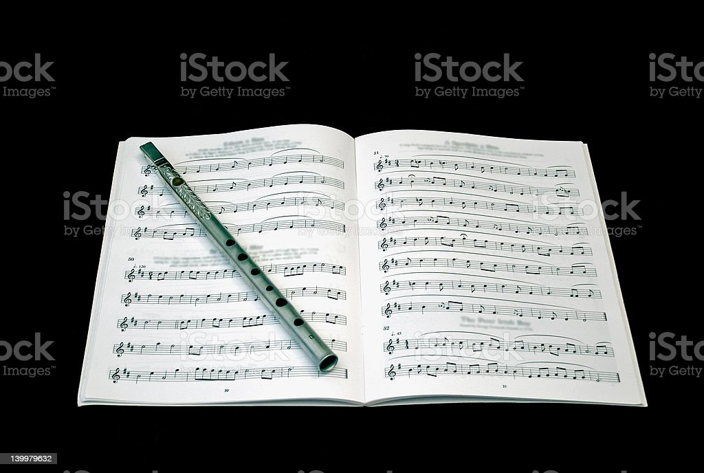 Music-book with Whistle royalty-free stock photo