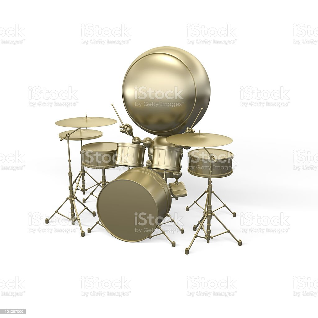 Musician - drummer does music royalty-free stock photo