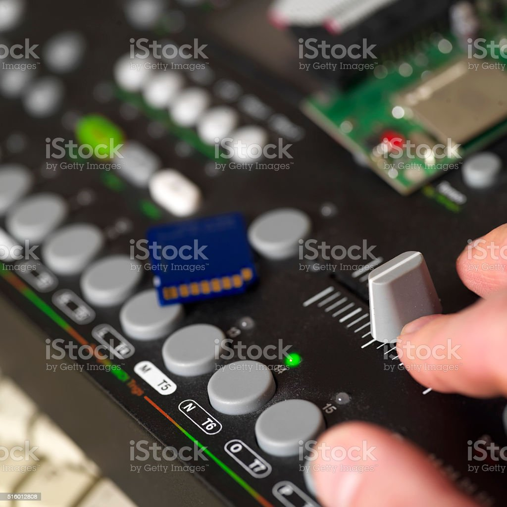 Musician Hand On Controller stock photo