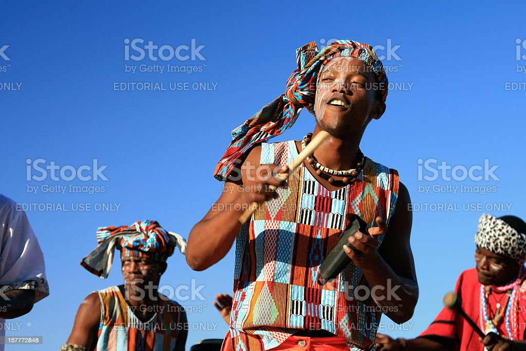 Musician in Cape Town, South Africa stock photo