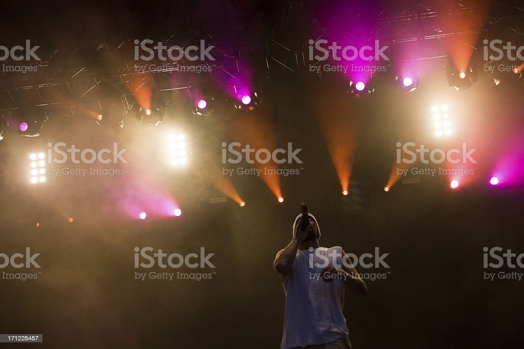musician in concert stock photo