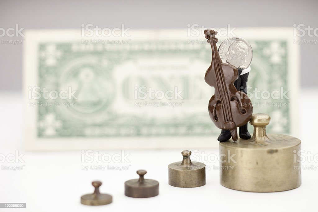 Musician money - Coins royalty-free stock photo