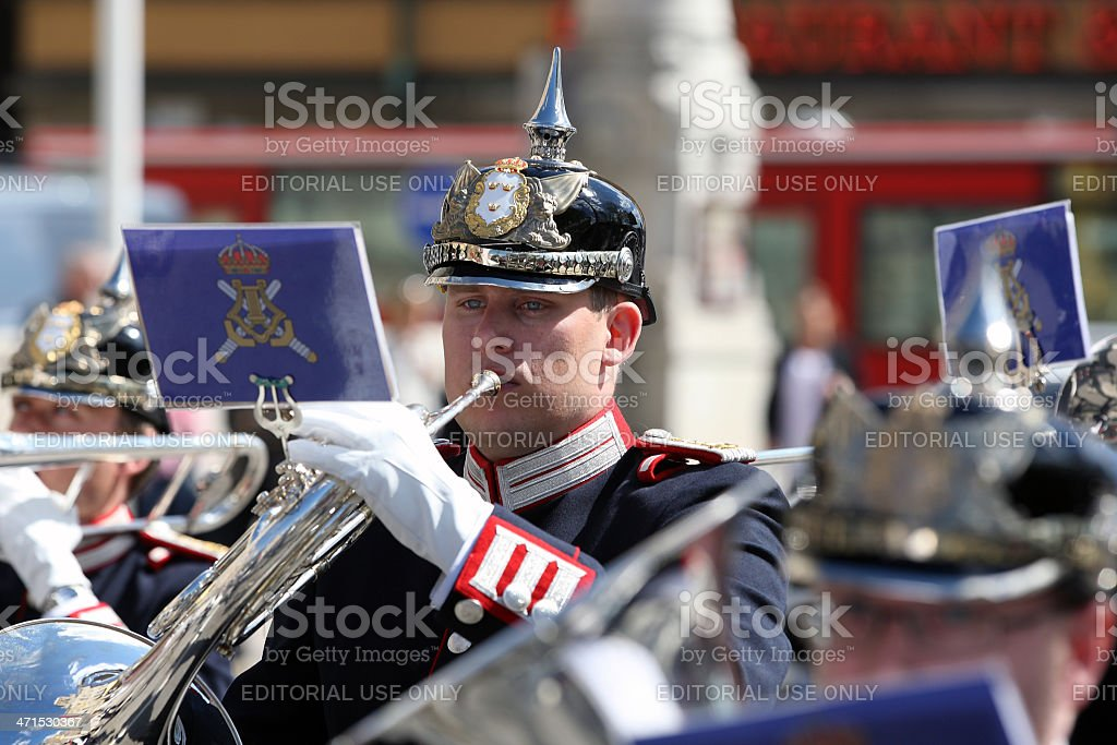 Musician of Royal Military Band royalty-free stock photo