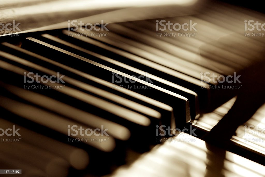 Musician Play Piano stock photo
