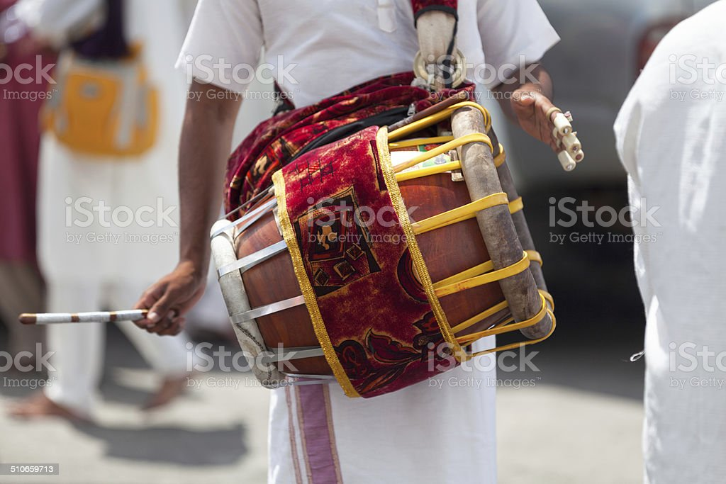 Musician playing with a Tabla stock photo