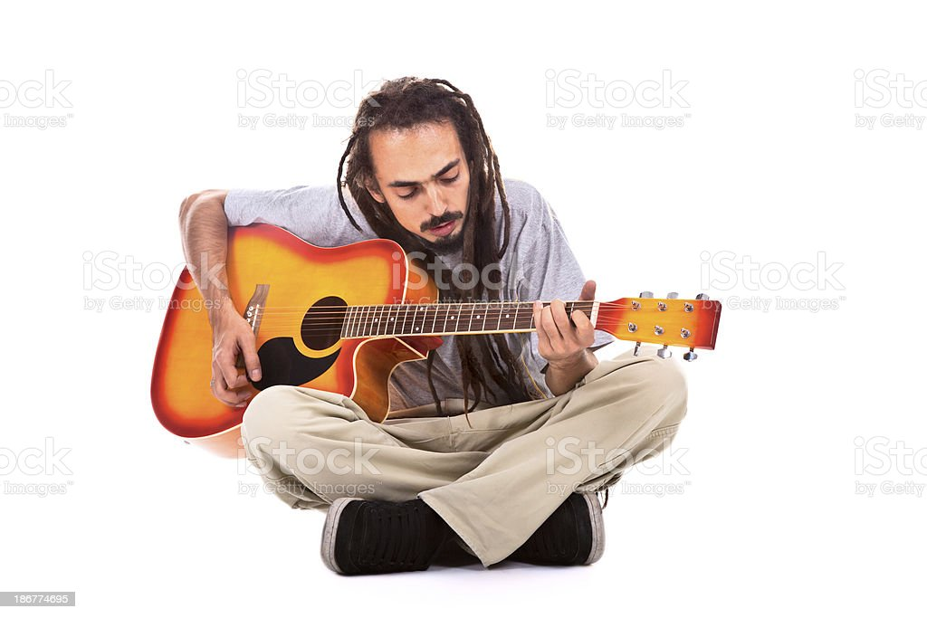 musician with a guitar royalty-free stock photo