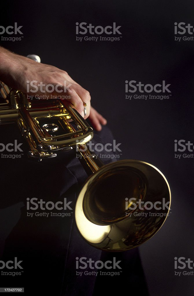 Musician with his Trumpet royalty-free stock photo