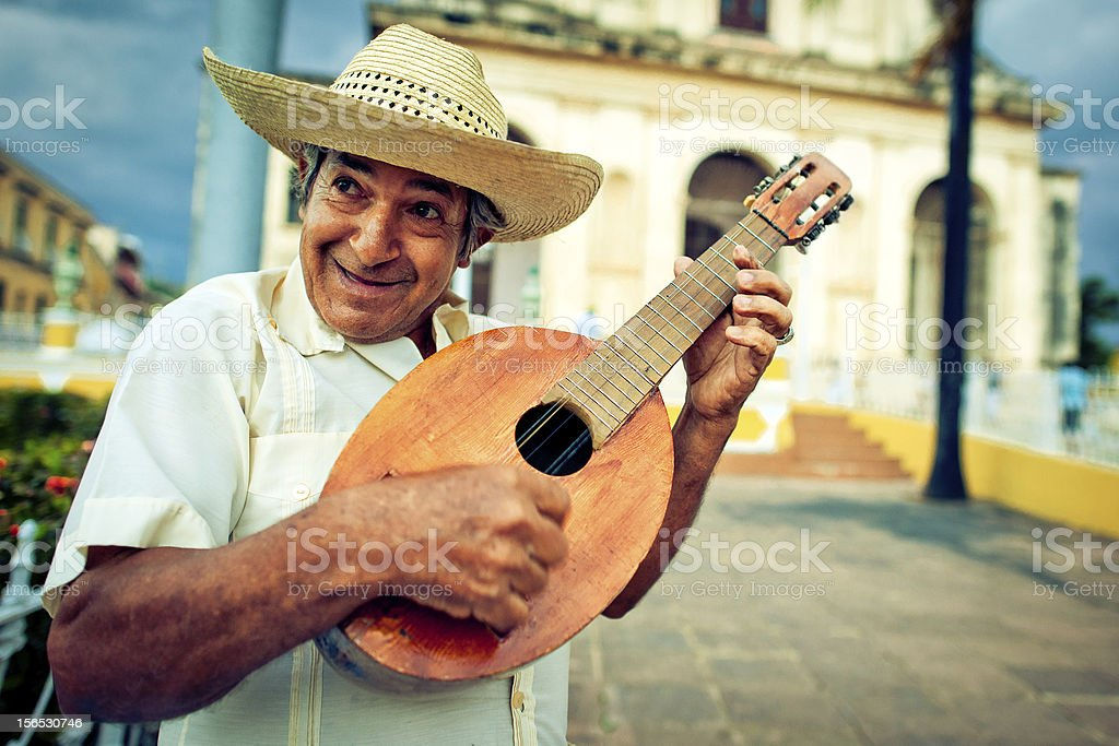 Musician with mandolin stock photo