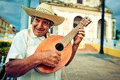 Musician with mandolin