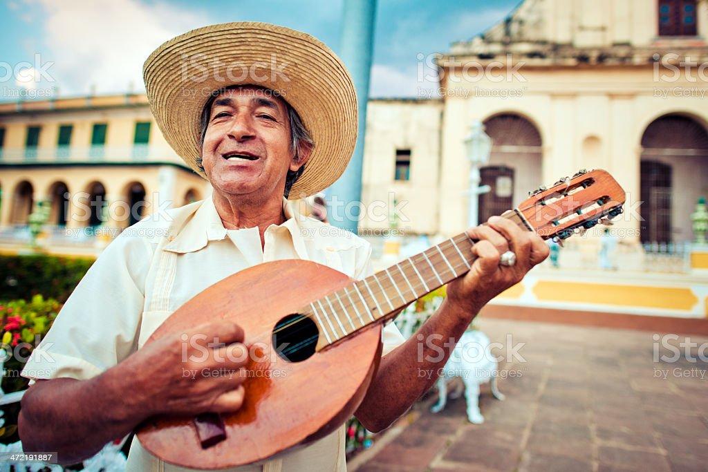 Musician with mandolin stock photo