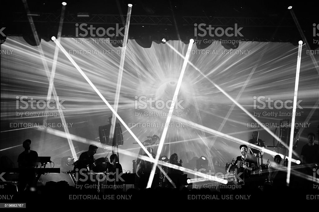 Musician Woodkid at Berlin Festival stock photo