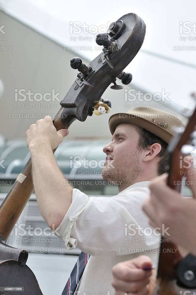 Musicians at Vancouver Jazz Festival stock photo