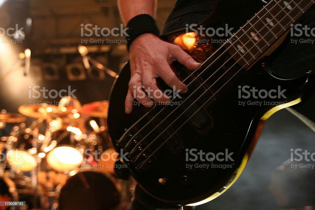 Musicians fingers stock photo