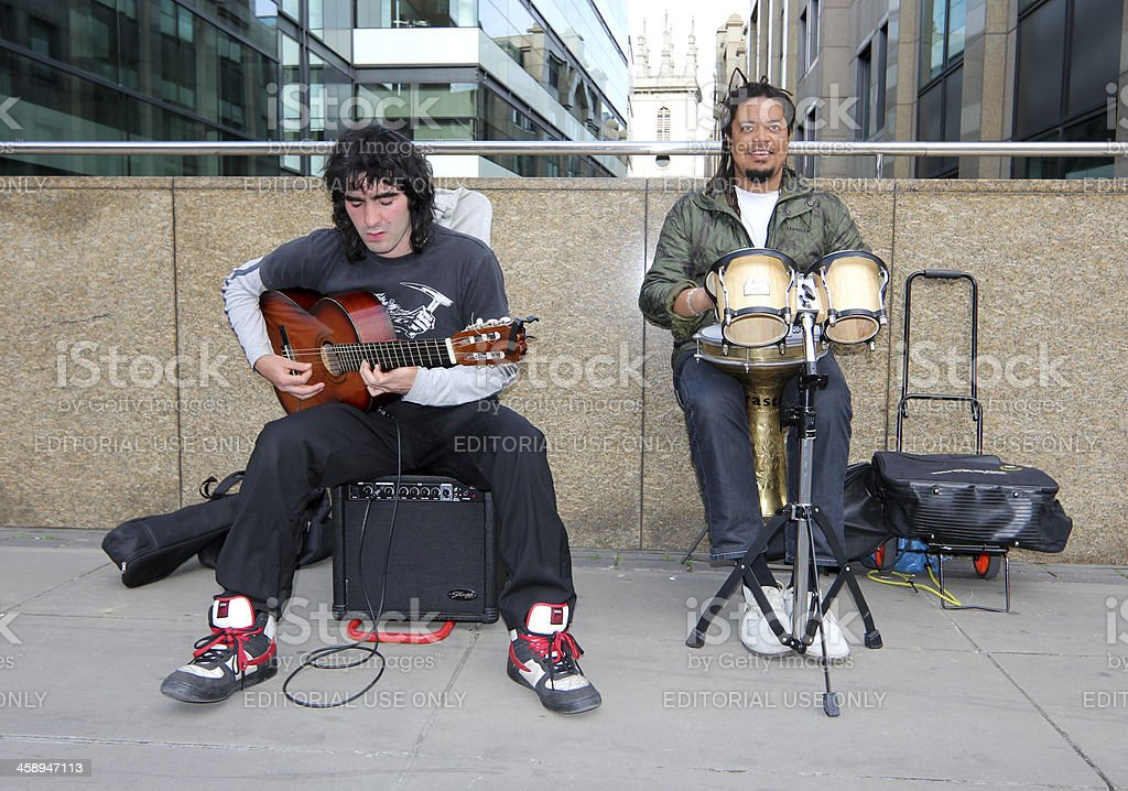 Musicians in City of London, England royalty-free stock photo