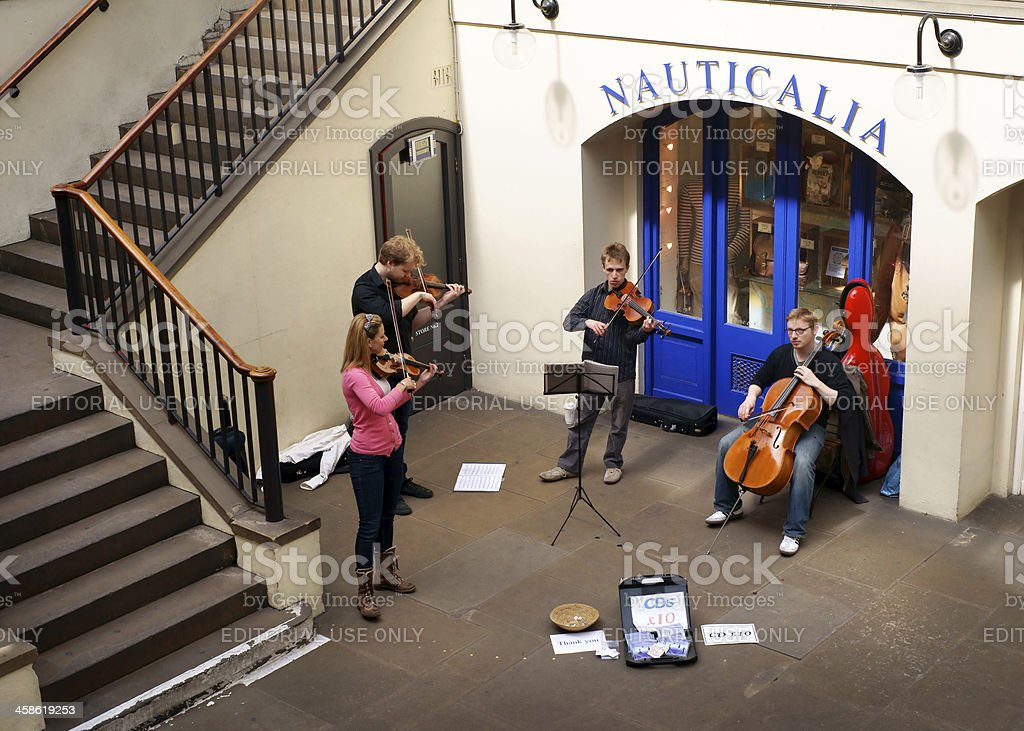 Musicians performing at Covent Garden royalty-free stock photo