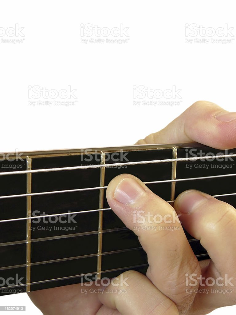 Music.Playing guitar royalty-free stock photo