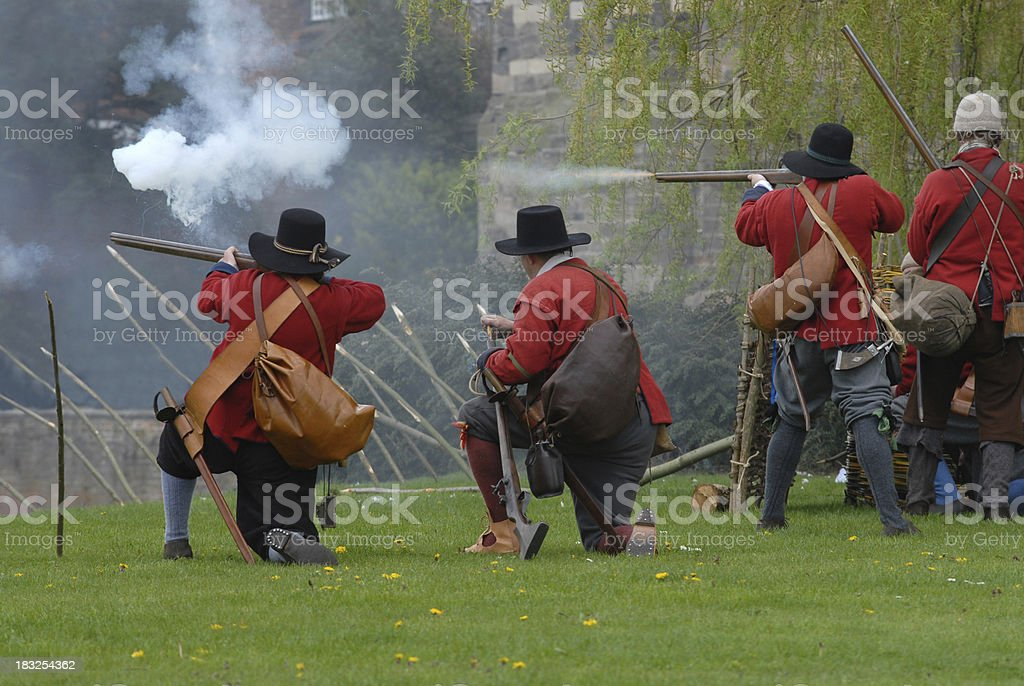 Musket Attack royalty-free stock photo