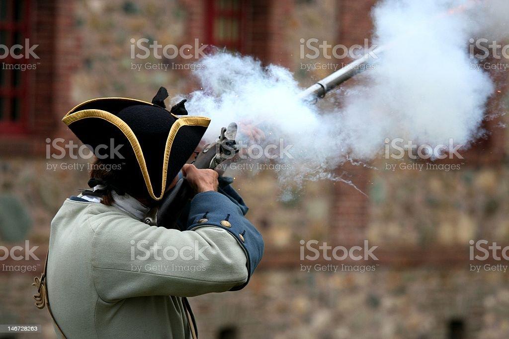 Musket shot stock photo