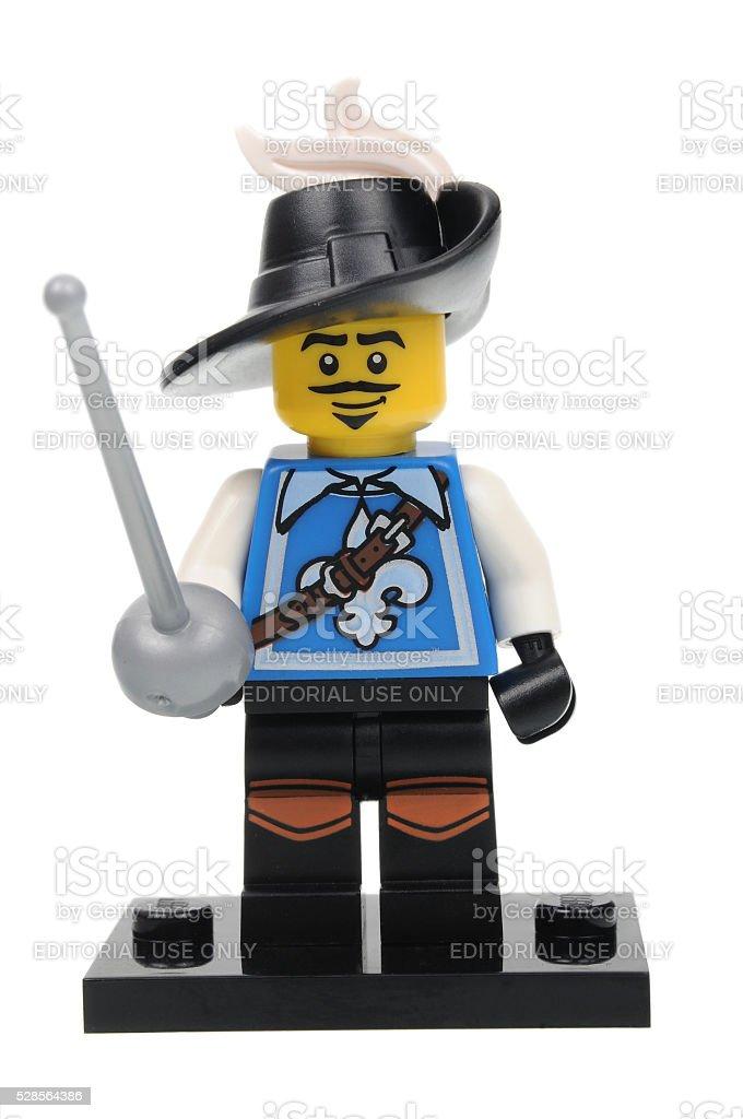 Musketeer Series 4 Lego Minifigure stock photo