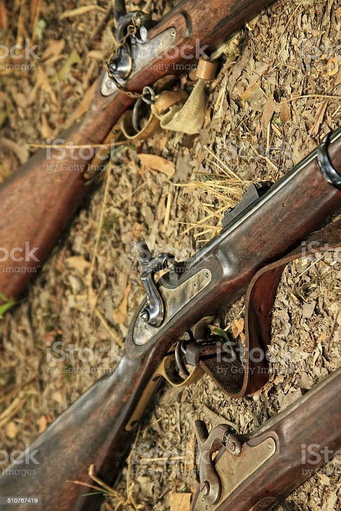 Muskets stock photo