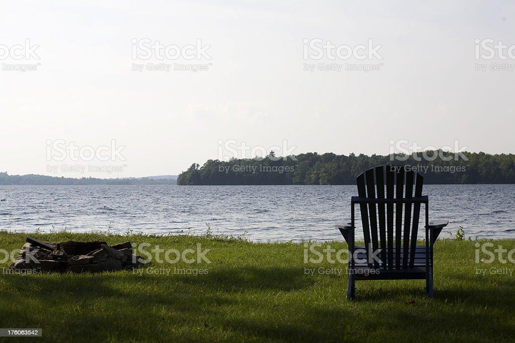 Muskoka Chair royalty-free stock photo