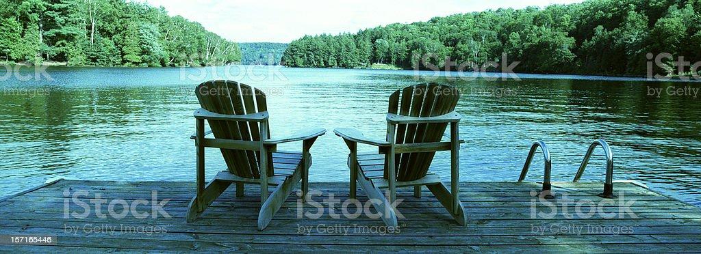 Muskoka Chairs 2 stock photo