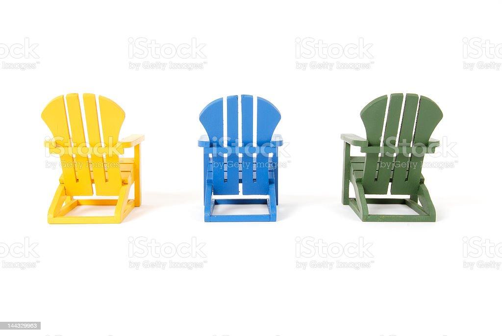 Muskoka Chairs (adirondack) stock photo