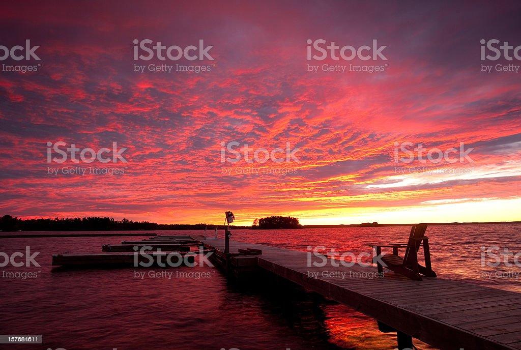 Muskoka Sunset stock photo