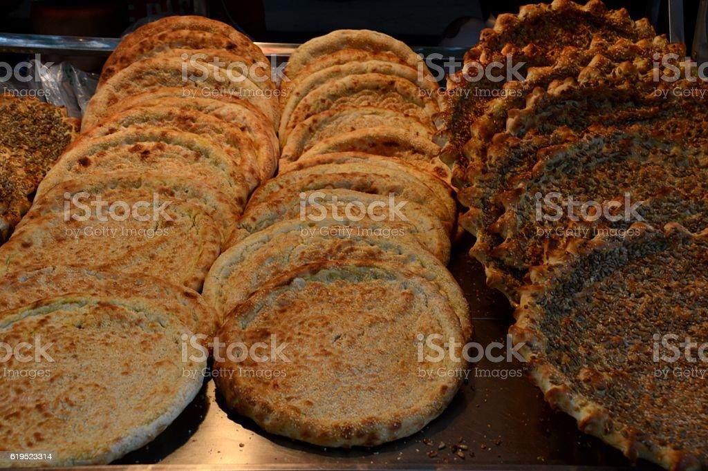 Muslim bread in Xi'an, Shaanxi, China stock photo