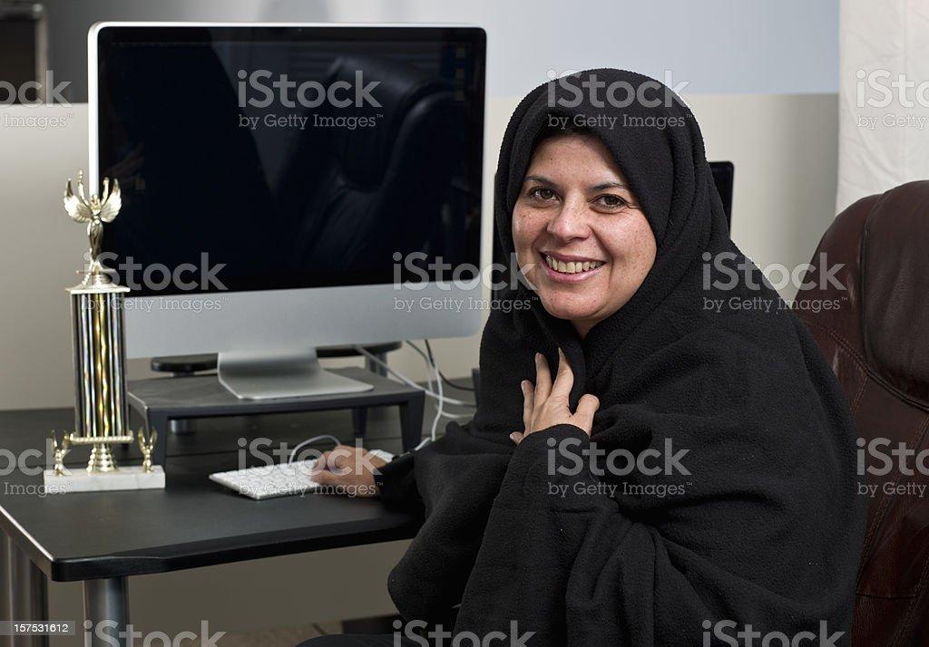 Muslim Business woman royalty-free stock photo
