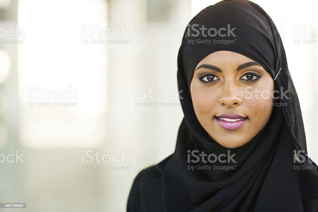 muslim businesswoman stock photo