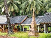 Muslim Cemetary Village Graveyard Burial Site Cemetary