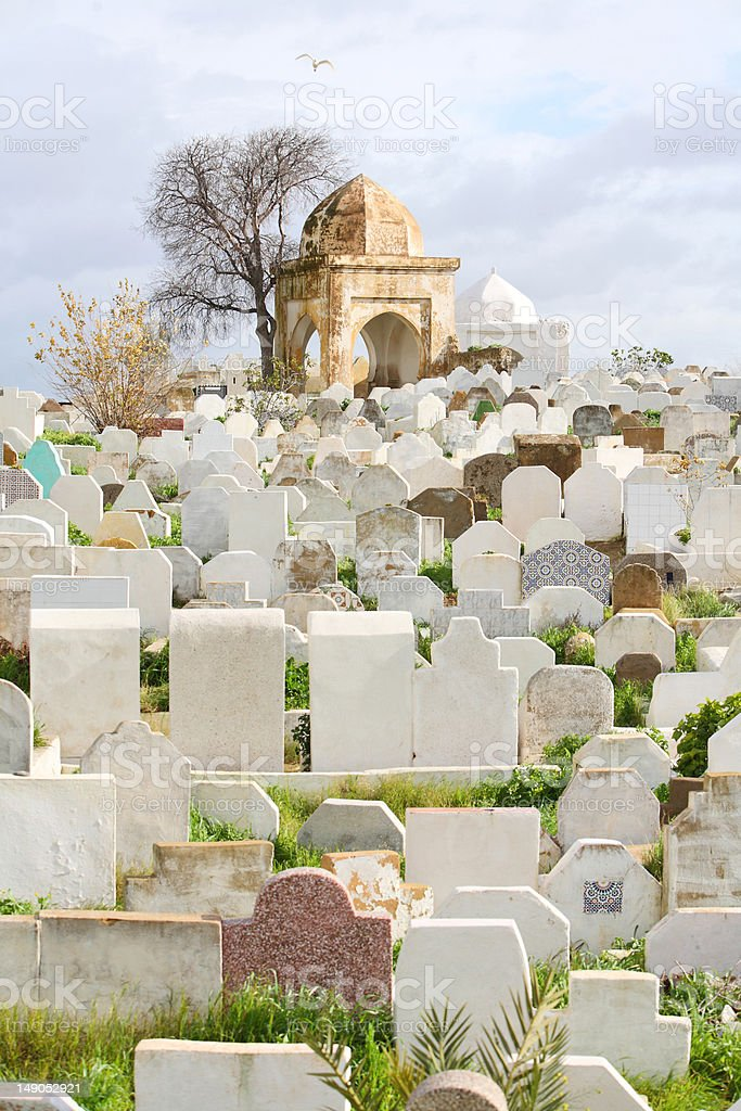 Muslim cemetery. Fes, Morocco royalty-free stock photo