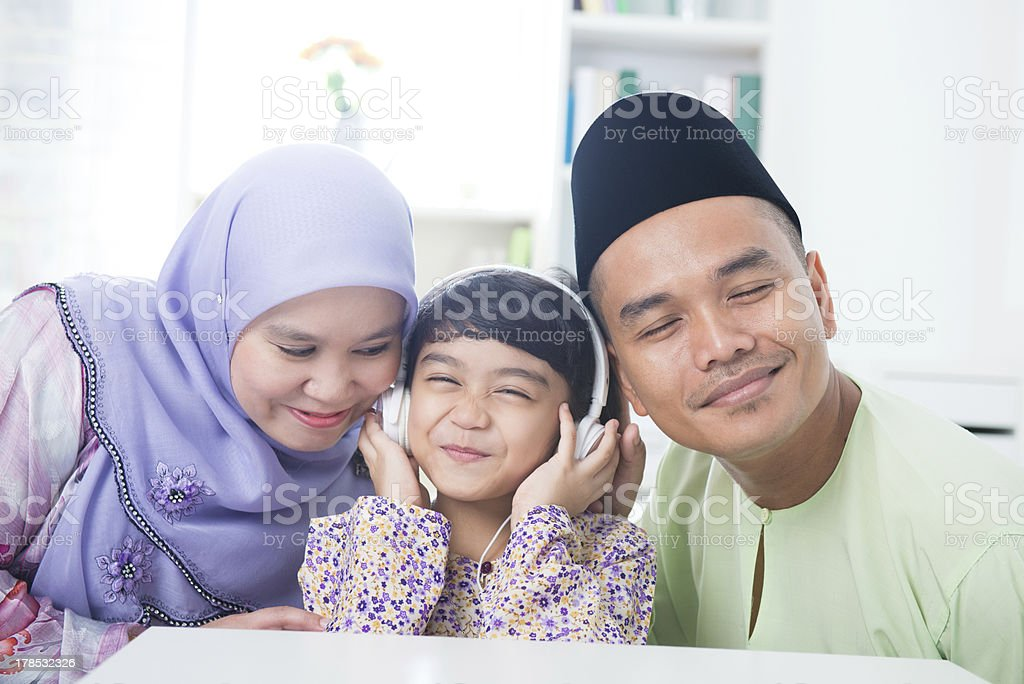 Muslim family royalty-free stock photo