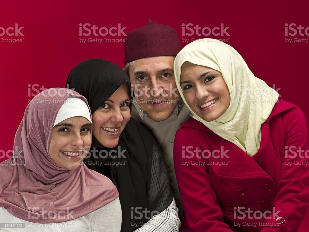 Muslim Family Portrait royalty-free stock photo