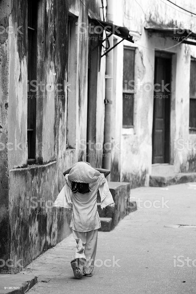 Jeune fille musulmane à Zanzibar photo libre de droits