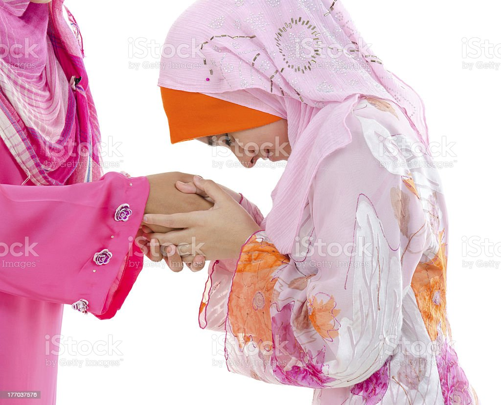 Muslim greeting stock photo