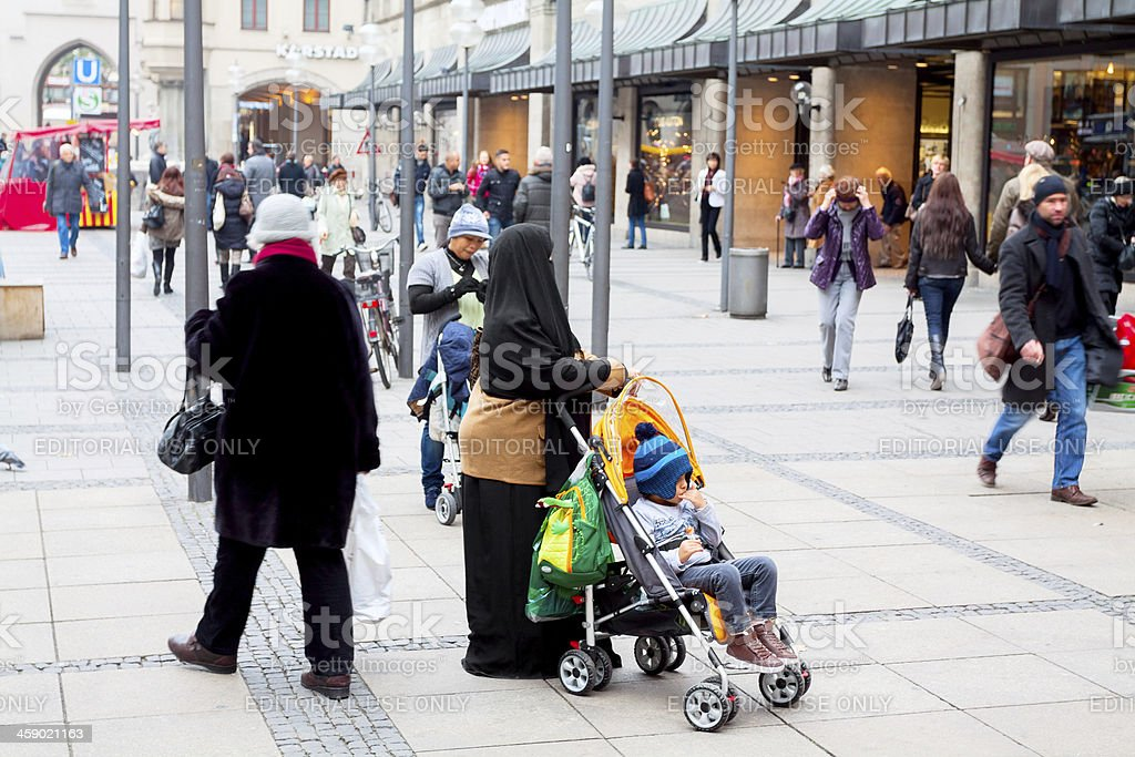 Muslim in Germany royalty-free stock photo