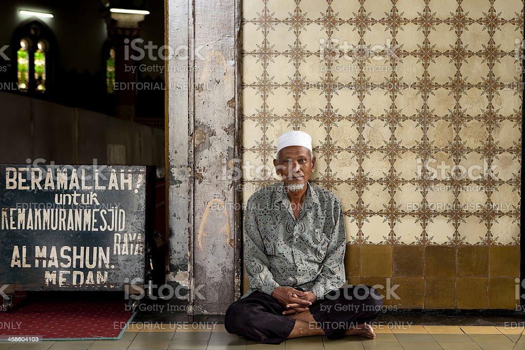 muslim man mosque medan royalty-free stock photo