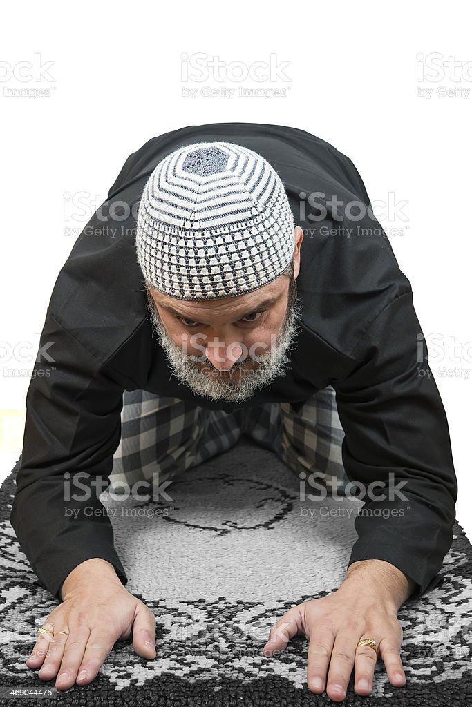 Muslim man praying. royalty-free stock photo