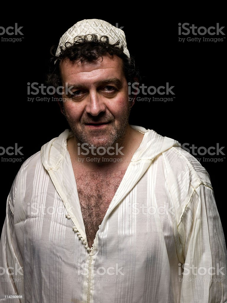 Muslim mature man royalty-free stock photo