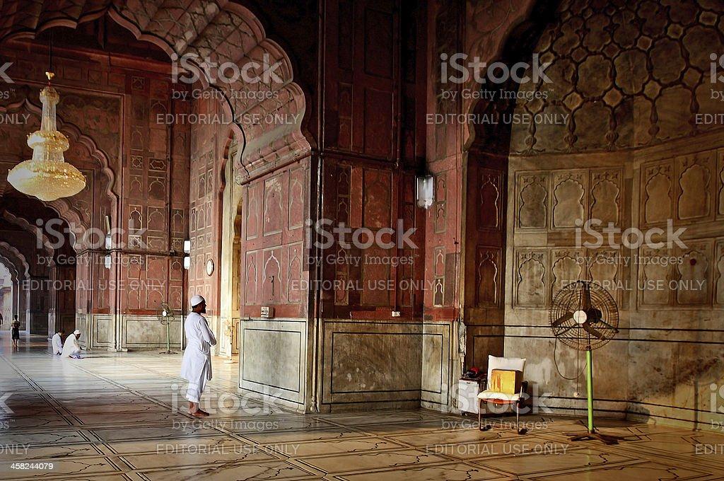 Muslim men offering Prayer stock photo