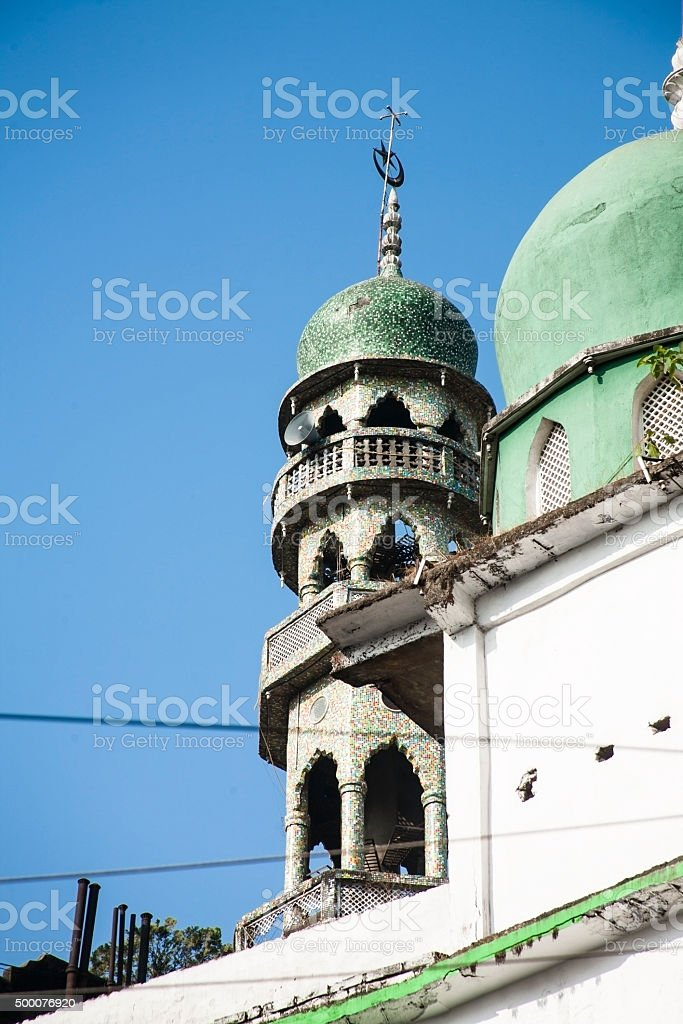 Muslim Mosque in Paltan Bazar, Gauhati, Assam, India. stock photo