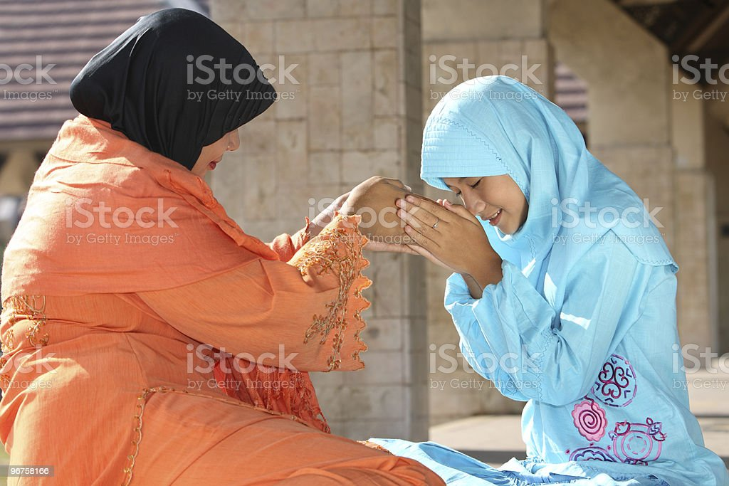 Muslim Mother and Child royalty-free stock photo