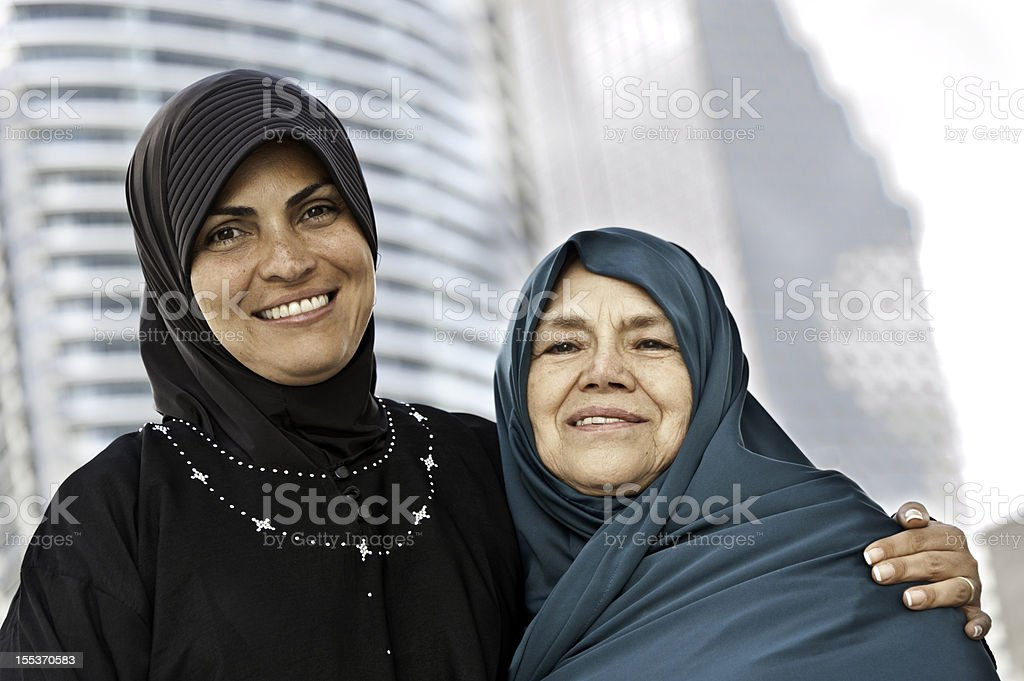 Muslim Mother and daughter royalty-free stock photo