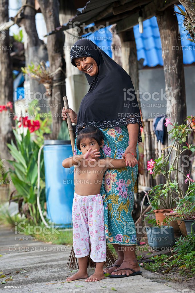 Muslim mother and daughter. royalty-free stock photo