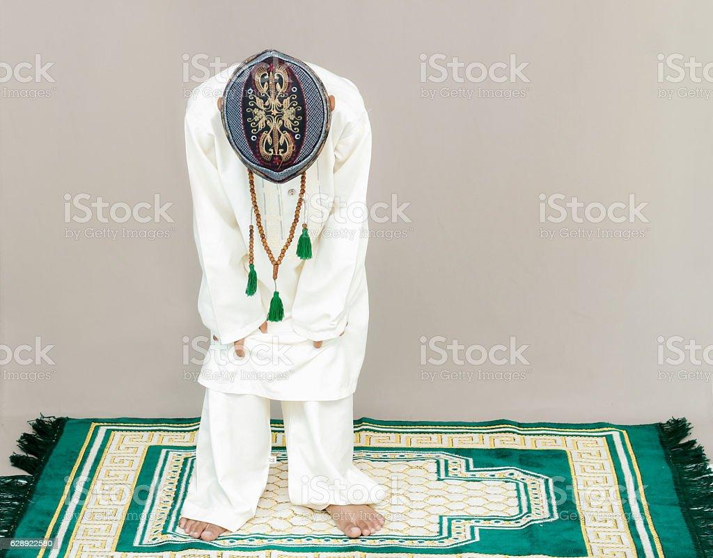 Muslim movements while praying. stock photo