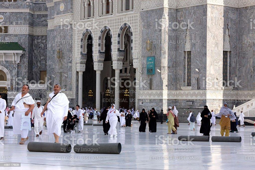 Muslim pilgrims at the Masjid al-Haram, Mecca, Saudi Arabia stock photo