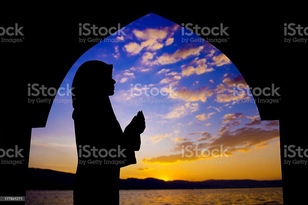 Muslim prayer royalty-free stock photo