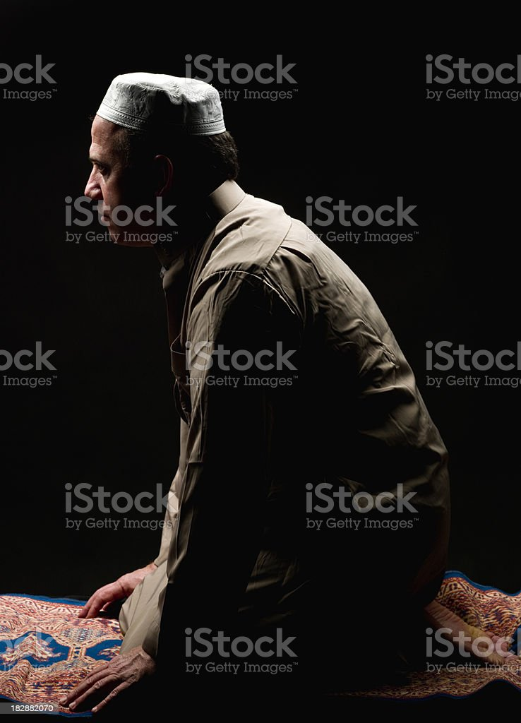 Muslim praying stock photo